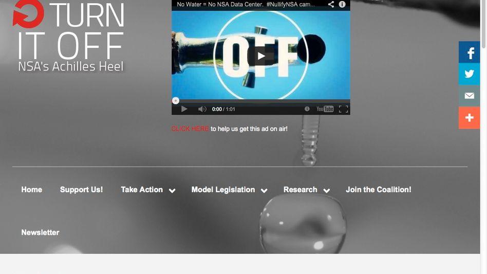 Protest-Website zum Wasser-Stopp: NSA-Rechenzentrum braucht viel Kühlwasser