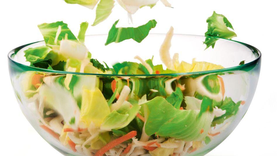 Abgepackte Salate: Durchgehende Kühlung unter sechs Grad Celsius ist wichtig