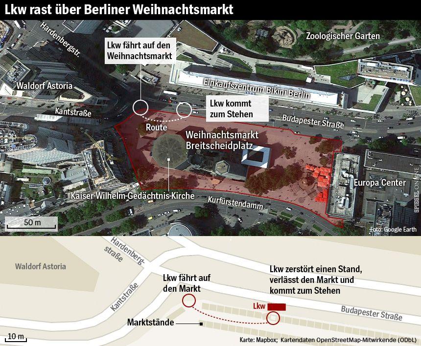 Karte - LKW rast über Weihnachtsmarkt Breitscheidplatz Berlin - v2