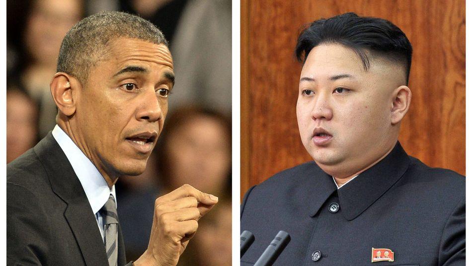 Barack Obama und Kim Jong-Un: Klassische Antwort