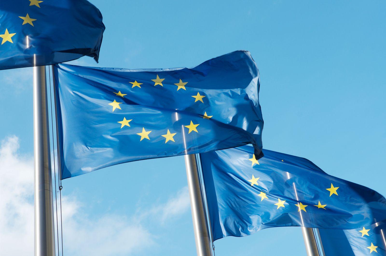 EINMALIGE VERWENDUNG Europäschische Union/ Flagge