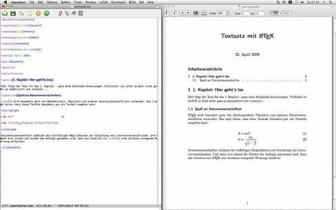 LaTeX: Formatierung per Textbefehl statt Aufklappmenü