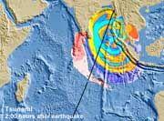 Zwei Stunden nach dem Beben: 60 Zentimeter hohe Wellen