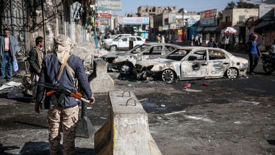 Schiitischer Rebell in Sanaa, Jemen