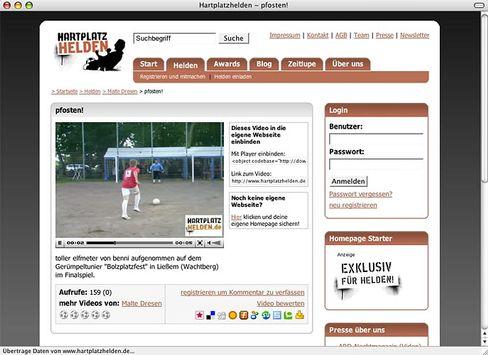 "Hobbyfußball-Portal Hartplatzhelden.de: ""Wettbewerbsrechtliche Verstöße"""