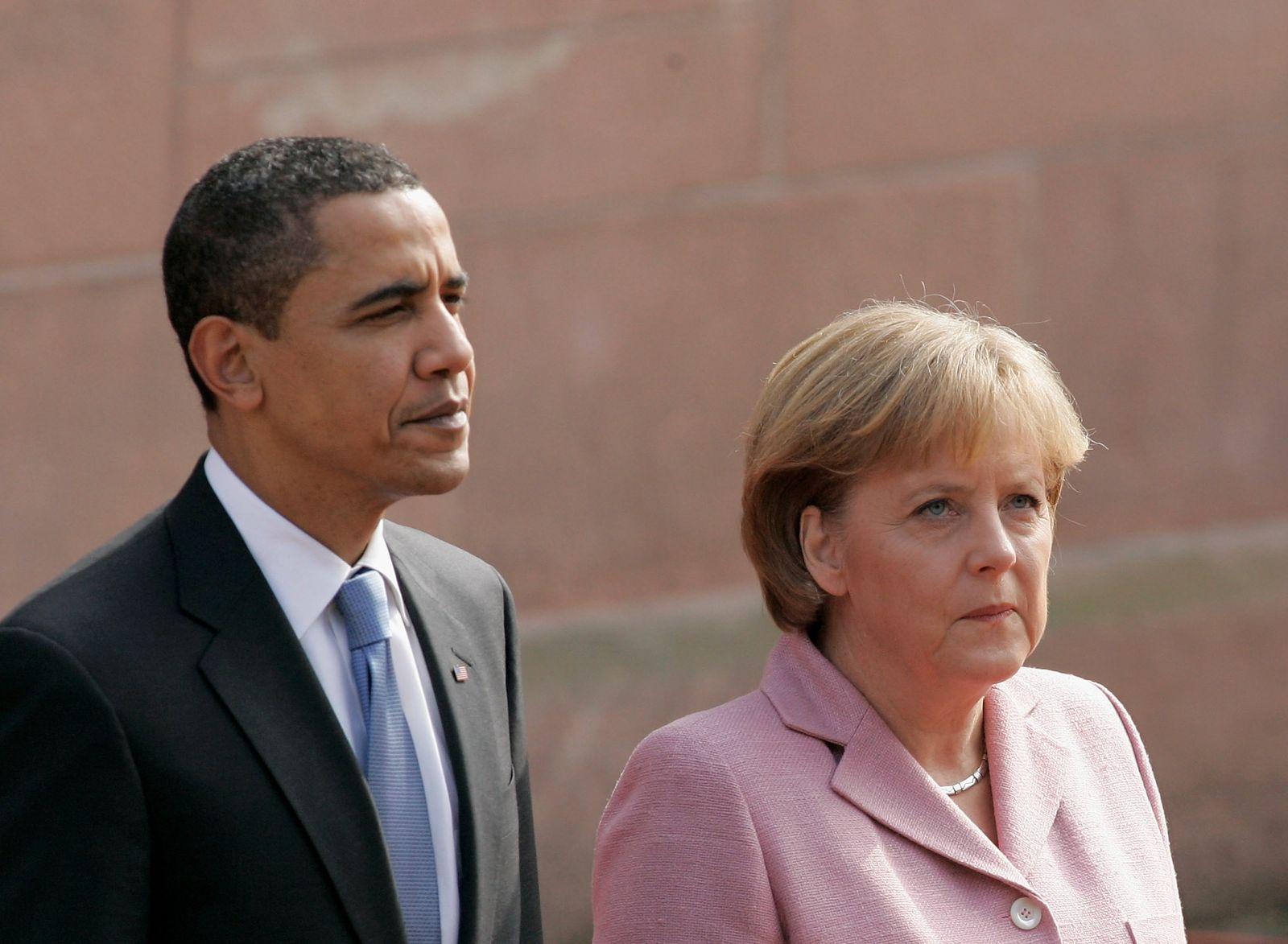 Barack Obama / Angela Merkel (2009)