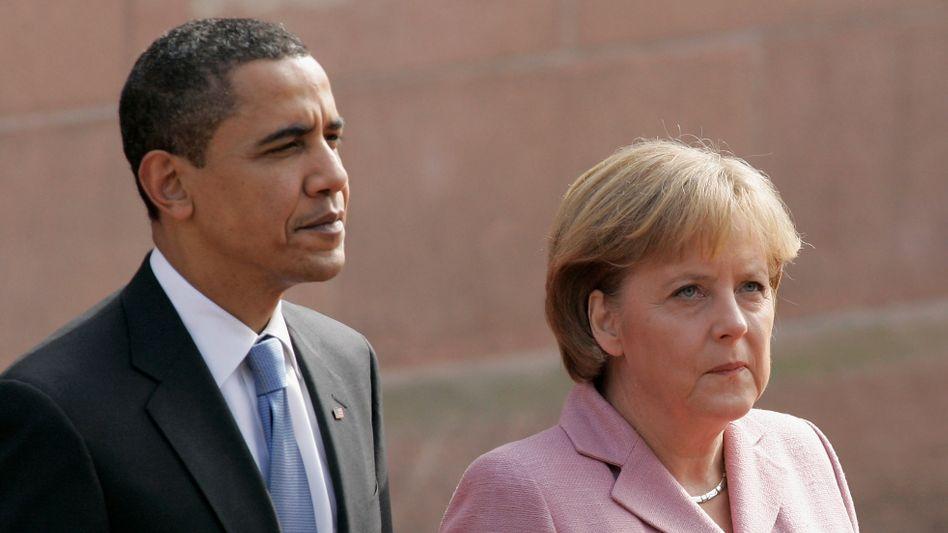 US-Präsident Obama, Kanzlerin Merkel: Um Deutschlands Ansehen ist es schlecht bestellt