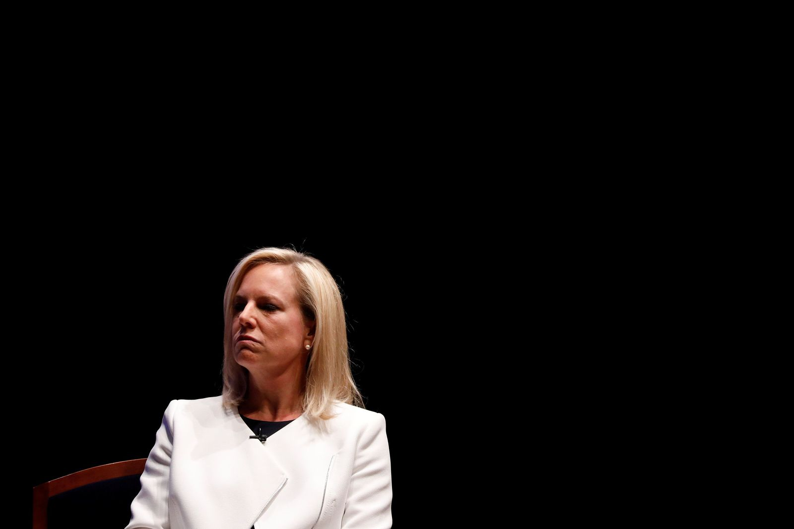 Homeland Security Secretary Kirstjen Nielsen speaks at the Capitol Hill National Security Forum at the U.S. Capitol in Washington