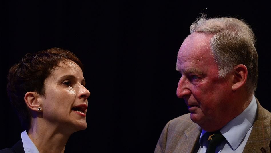 AfD-Chefin Petry mit AfD-Vize Gauland