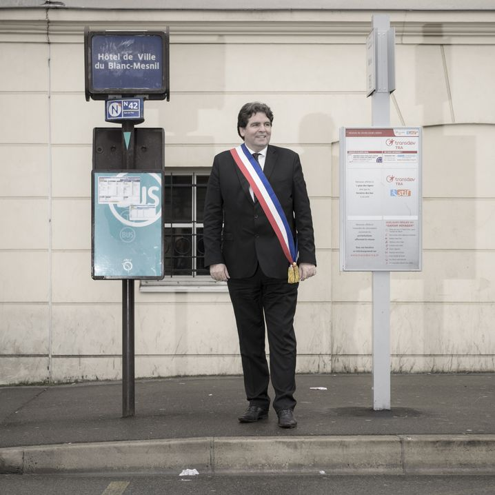 Thierry Meignen is the first conservative mayor of Paris' Blanc-Mesnil commune in decades. The area had been a communist stronghold for years.