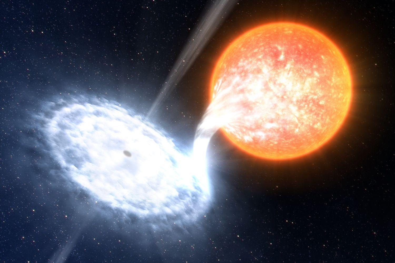 EINMALIGE VERWENDUNG Schwarzes Loch/ Binary Black Hole