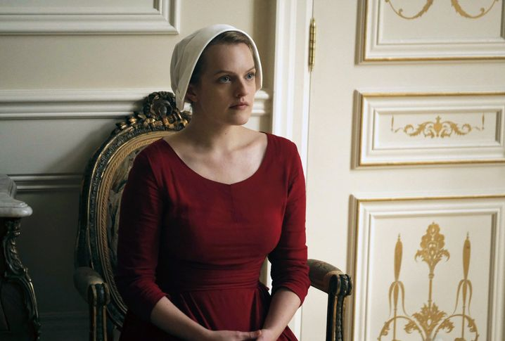 "Szene aus der Serie ""The Handmaid' Tale"" mit Elizabeth Moss"