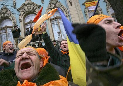 Freude in Kiew nach Wahlsieg von Wiktor Juschtschenko: Hinterlegt in Gefühlsdatenbank