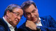 Söder und Laschet in Berlin eingetroffen