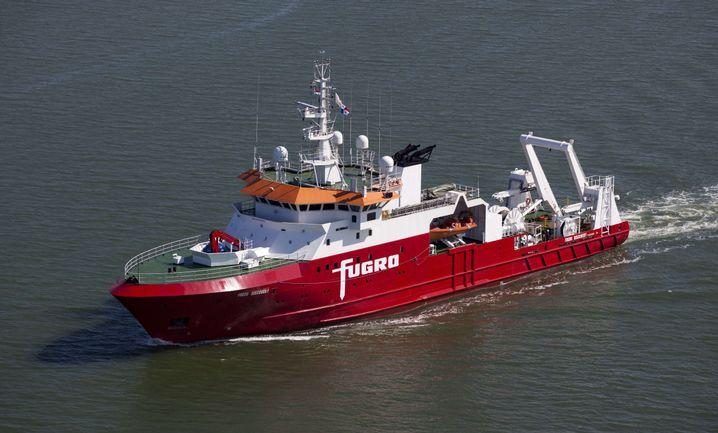 "Suchschiff ""Fugro Discovery"" (im September 2014)"