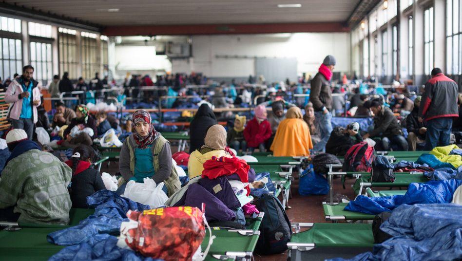 Flüchtlinge in einer Unterkunft in Passau
