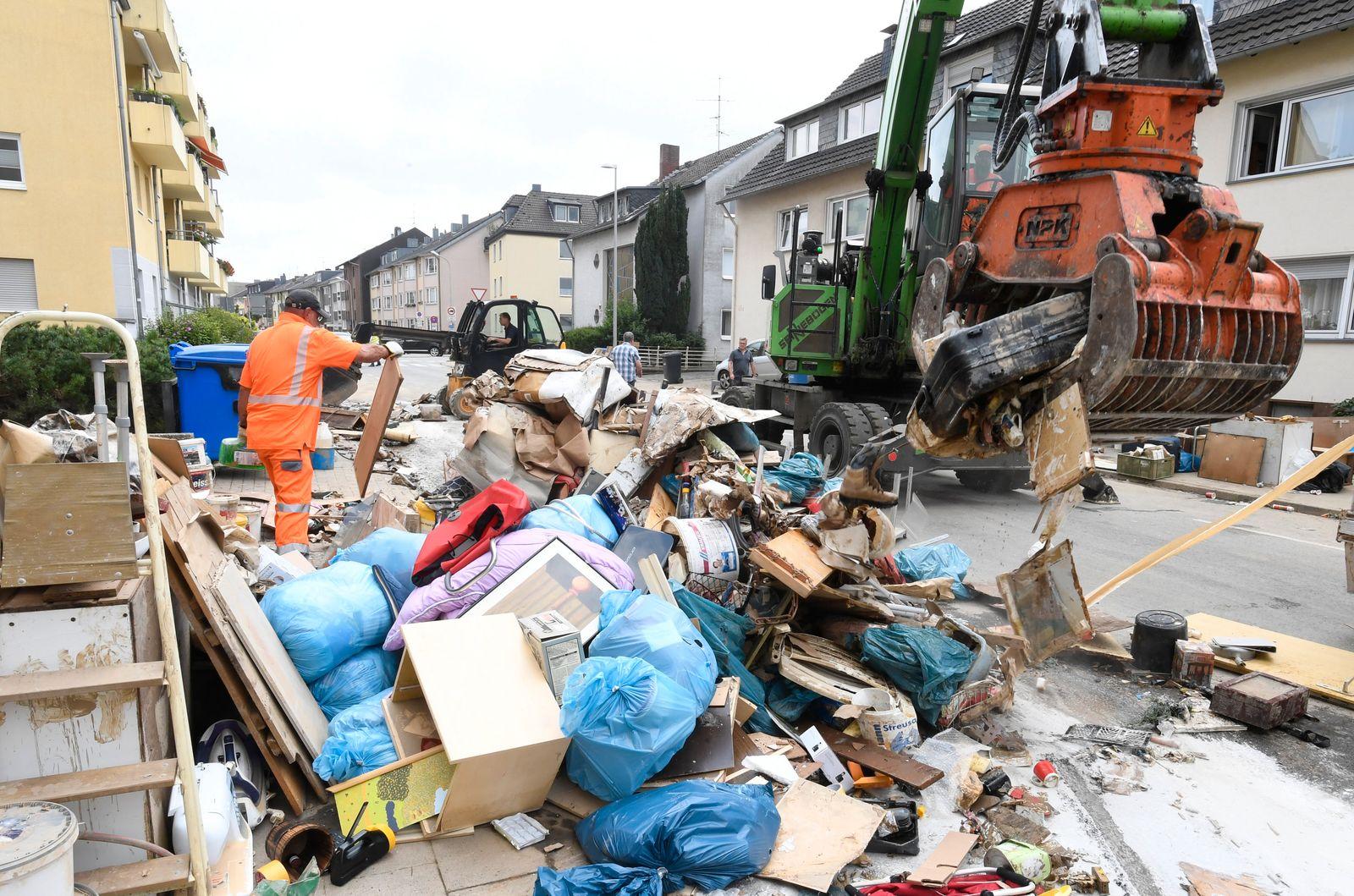 Flutkatastrophe Nordrhein-Westfalen - Opladen
