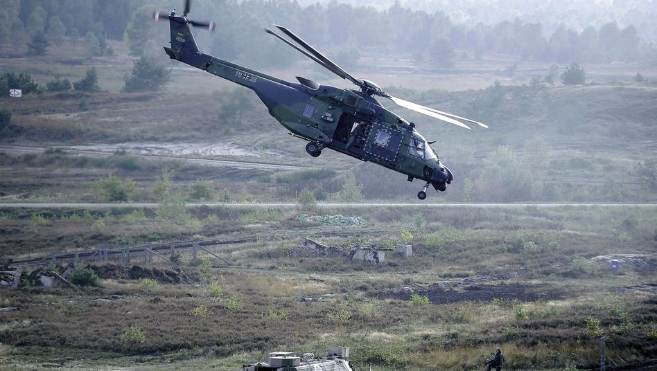 Gefechtsübung mit Hubschrauber NH90: Ruß und zerflossener Lötzinn