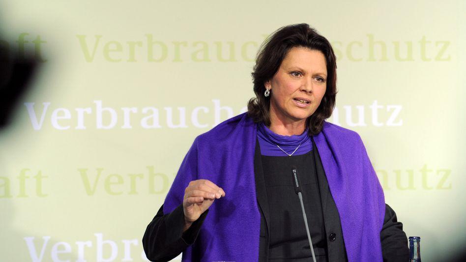 Bundesverbraucherschutzministerin Ilse Aigner: Kruzifix im Besucherraum
