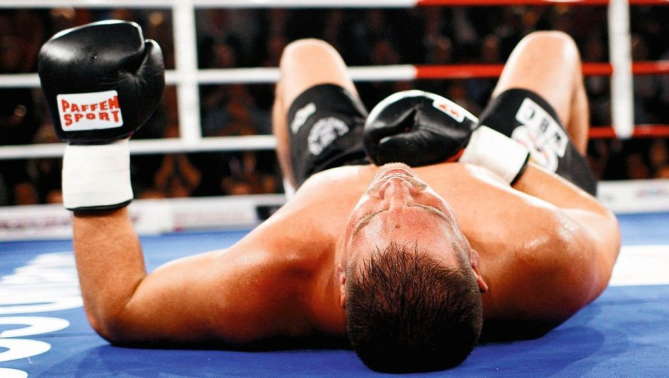 Unterlegener Boxer