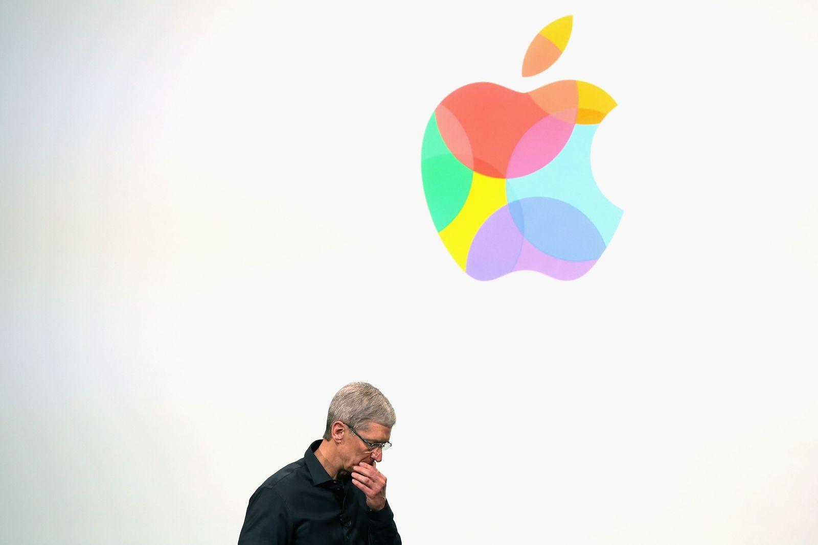 Apple Logo bunt