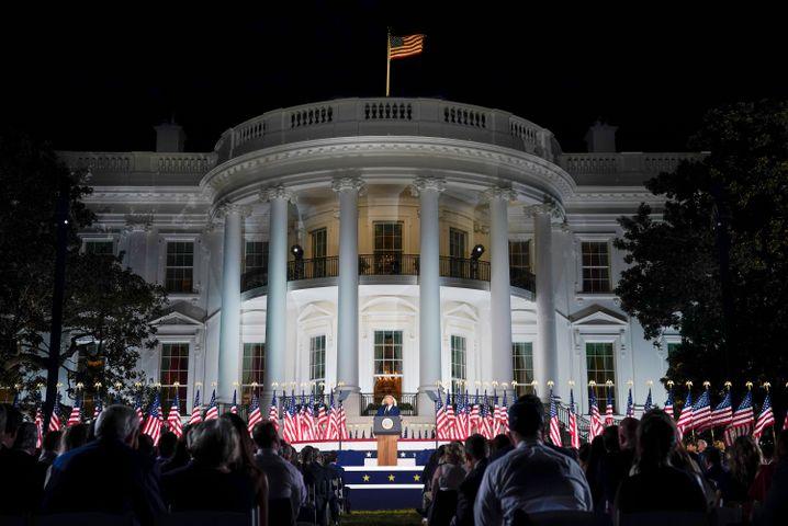 Quotenflop am Weißen Haus: Trumps Wahlparteitag