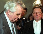 Egon Krenz vor der Urteilsverkündung im Revisionsprozess