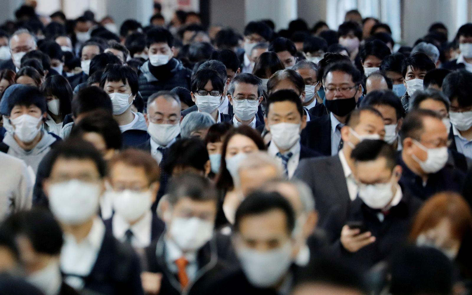 FILE PHOTO: Outbreak of the coronavirus disease (COVID-19) in Tokyo, Japan