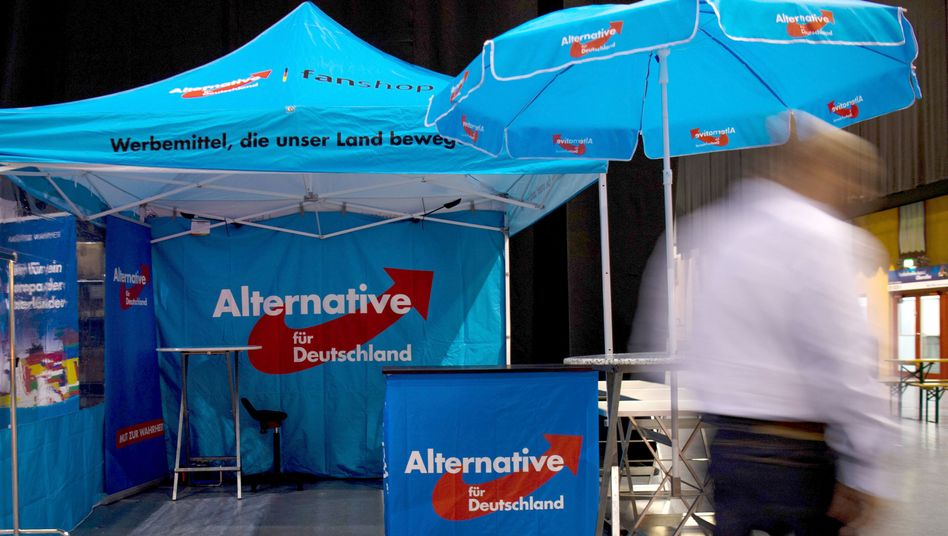 AfD-Wahlstand