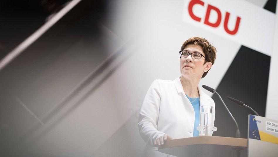 Die Bundesvorsitzende der CDU, Annegret Kramp-Karrenbauer