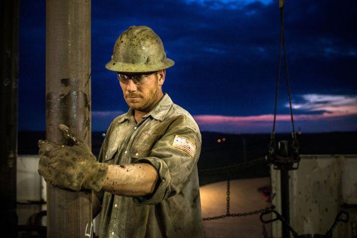 Ölförderung um US-Bundesstaat North Dakota