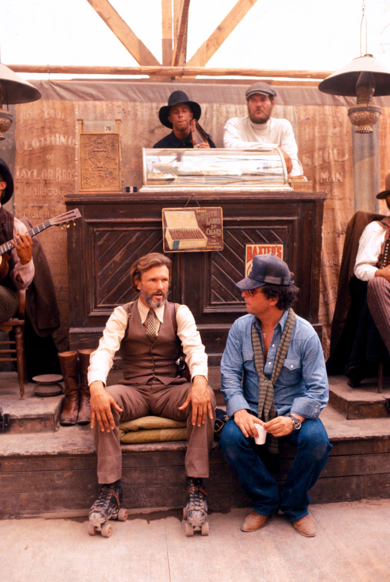 """Heaven's Gate"" Kris Kristofferson, Director Michael Cimino © 1980 United Artists ** I.V."