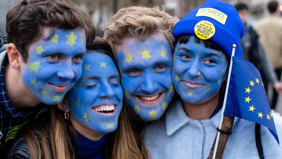 Pro-Europa-Demo (im März in London): Auf der politischen Prioritätenliste nicht an erster Stelle