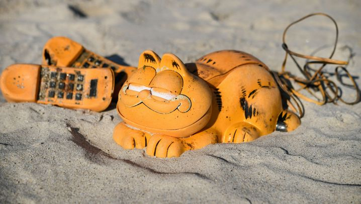 Bretagne: Plastikkater am Strand
