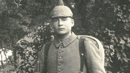 Maximilian Mohr im Juli 1916 bei Carignan in Frankreich