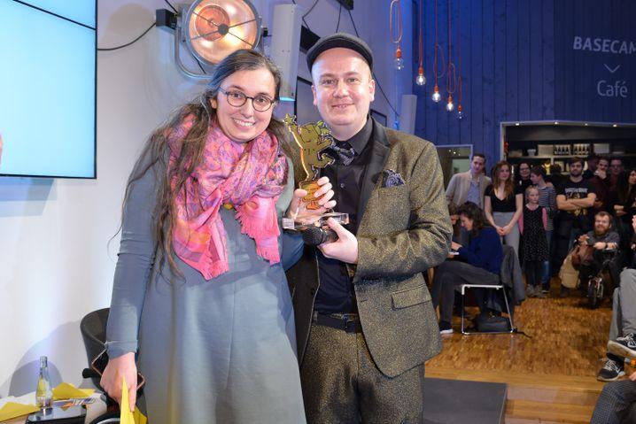 """Marie Sophie Hingst bei der Preisverleihung zur """"Bloggerin des Jahres"""" 2017"""