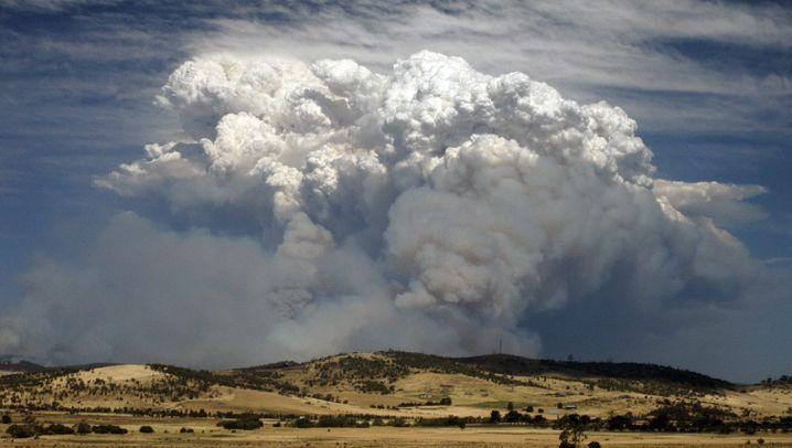 Buschbrände in Australien: Rauchwolken über Tasmanien