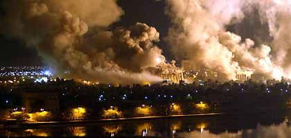 Baghdad on the evening of March 21, 2003. Germany has long denied having played any kind of a military role.