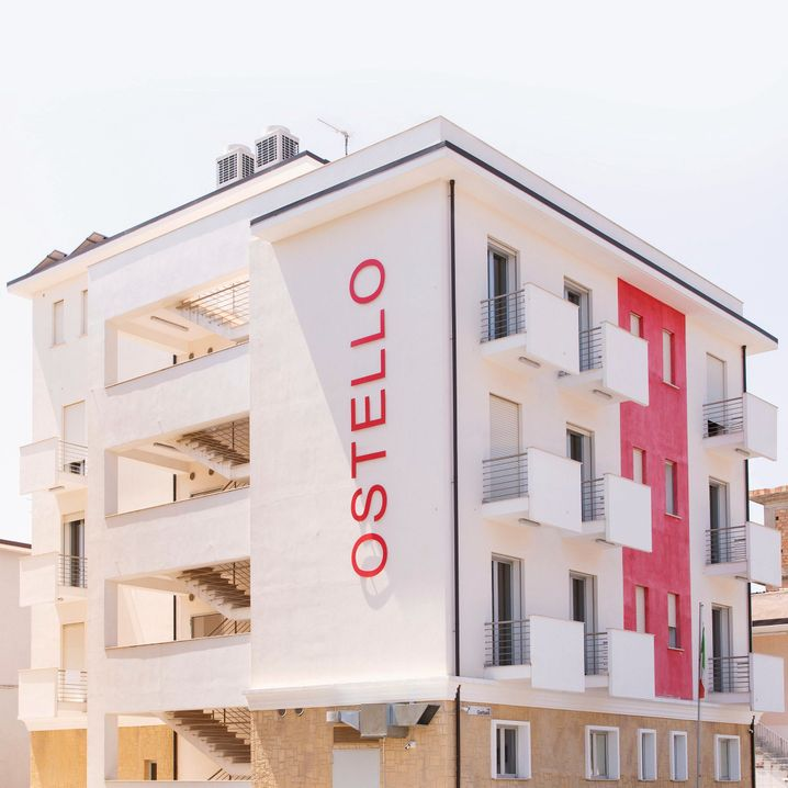 This building used to belong to a mafia boss in Locri, a town in Calabria. In the future, it will be used as a hostel.