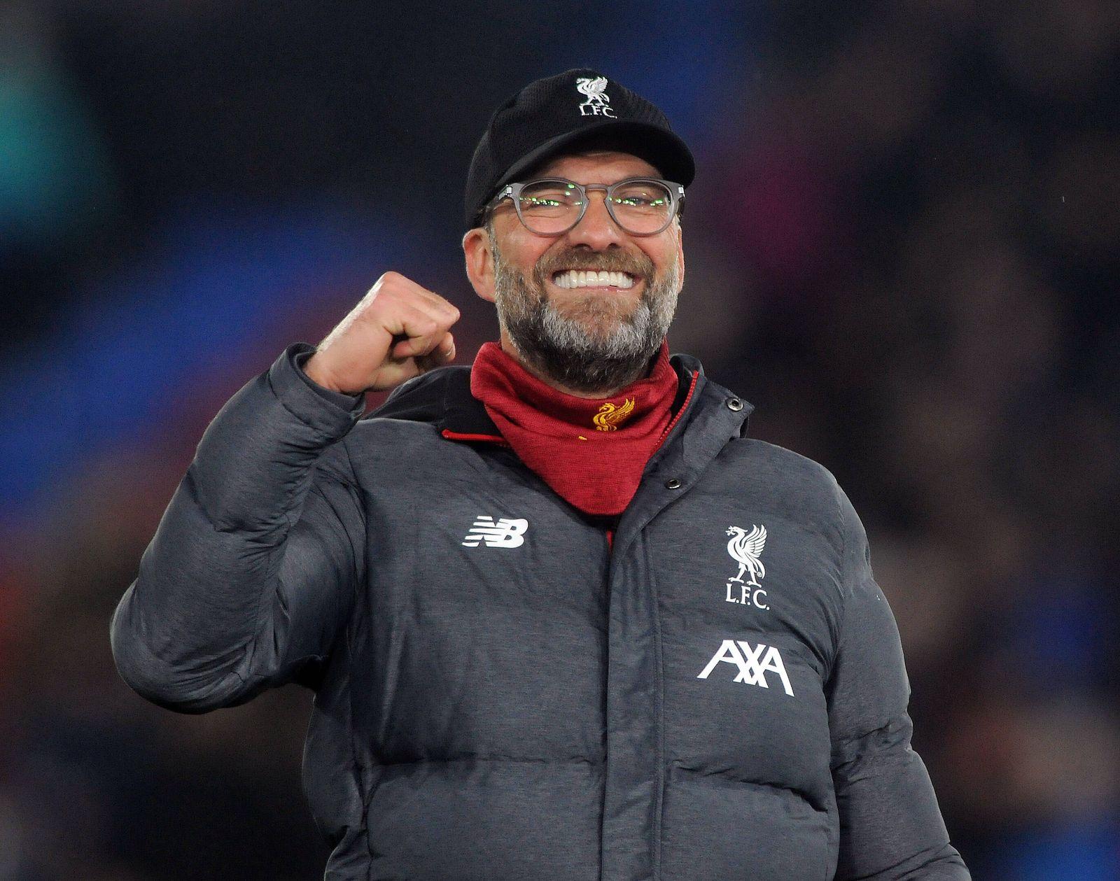 Sport Bilder des Tages Football - 2019 / 2020 Premier League - Crystal Palace vs. Liverpool Liverpool Manager, Jurgen K
