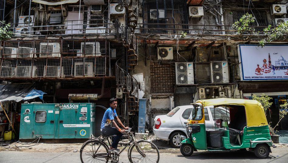 Klimaanlagen im indischen Neu-Delhi: Mehr als 100 Jahre alte Technik