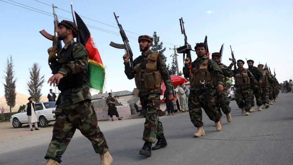 Afghanische Soldaten in Kabul