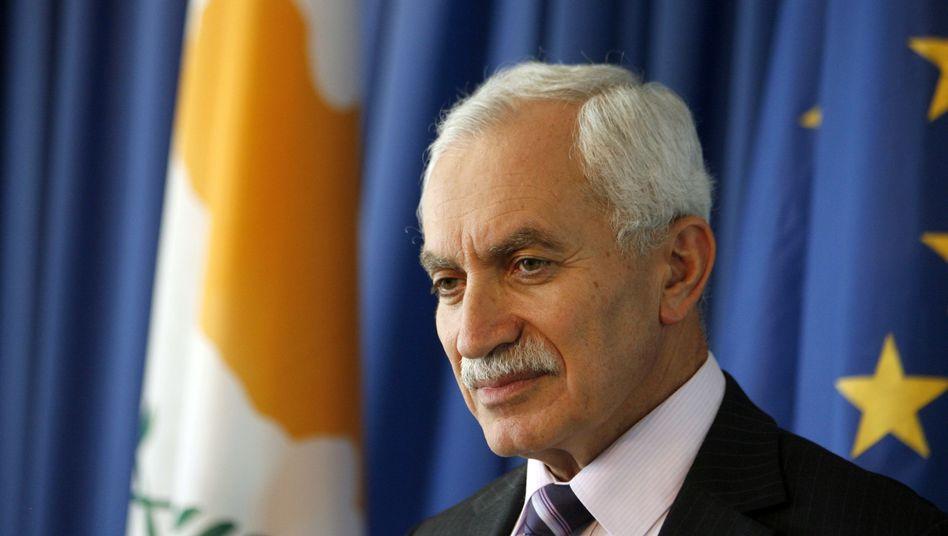 Cypriot Finance Minister Vasos Shiarly.