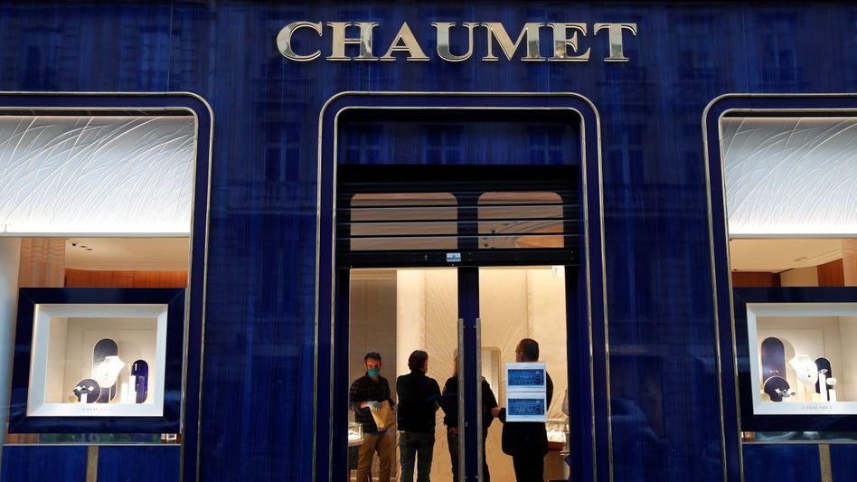 Diese Filiale des Juweliers Chaumet in Paris wurde ausgeraubt