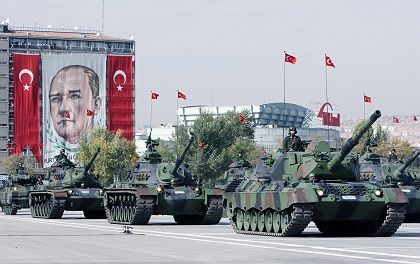 A military parade in Ankara.