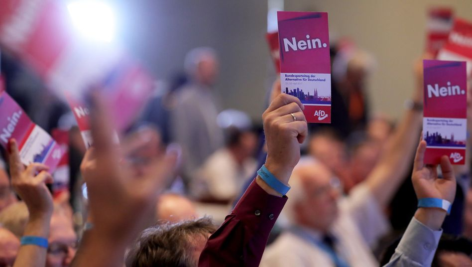 Delegierte beim AfD-Bundesparteitag im April 2017