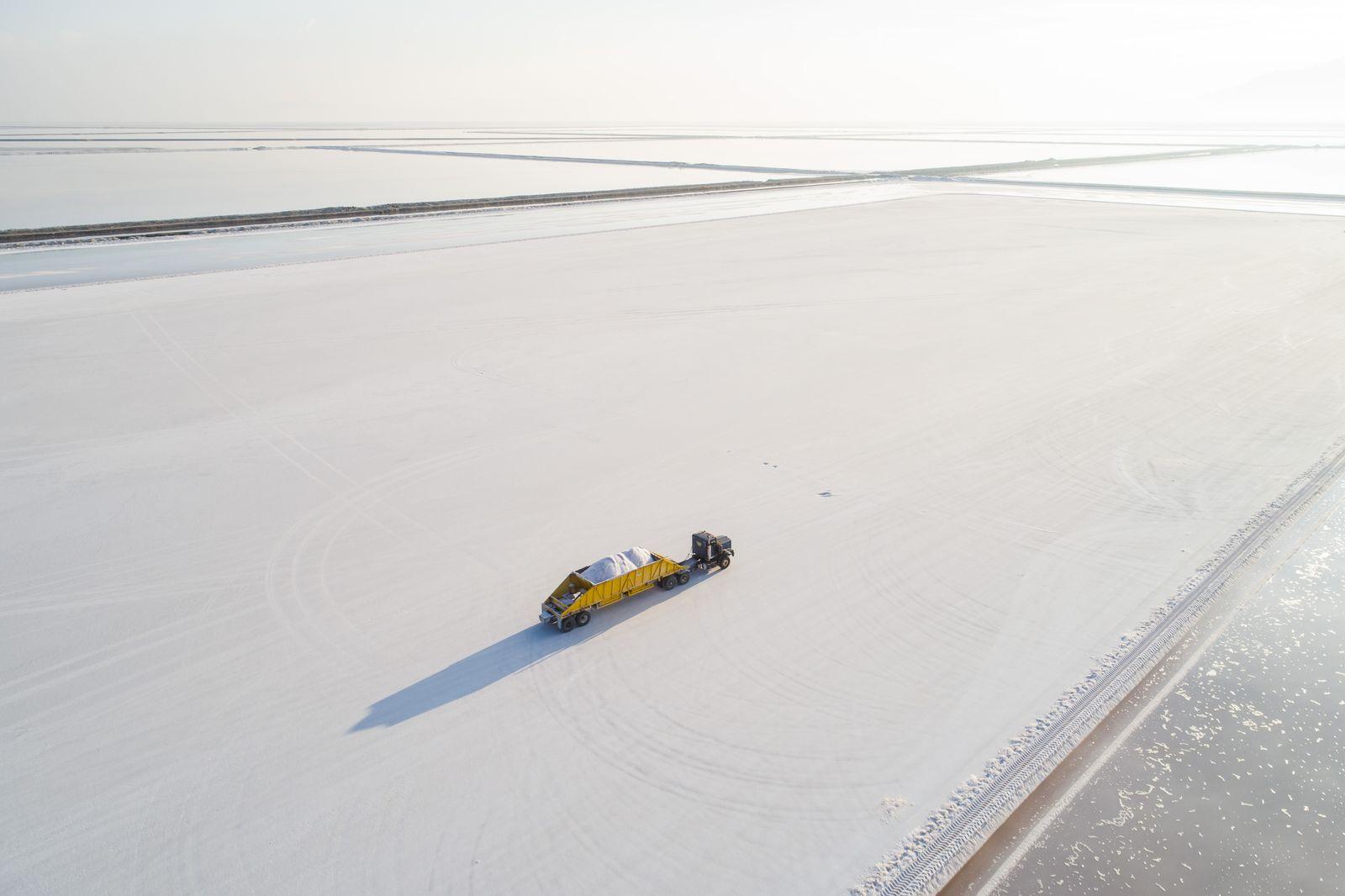 Utah's Great Salt Lake is shrinking, Grantsville, USA - 08 Oct 2020