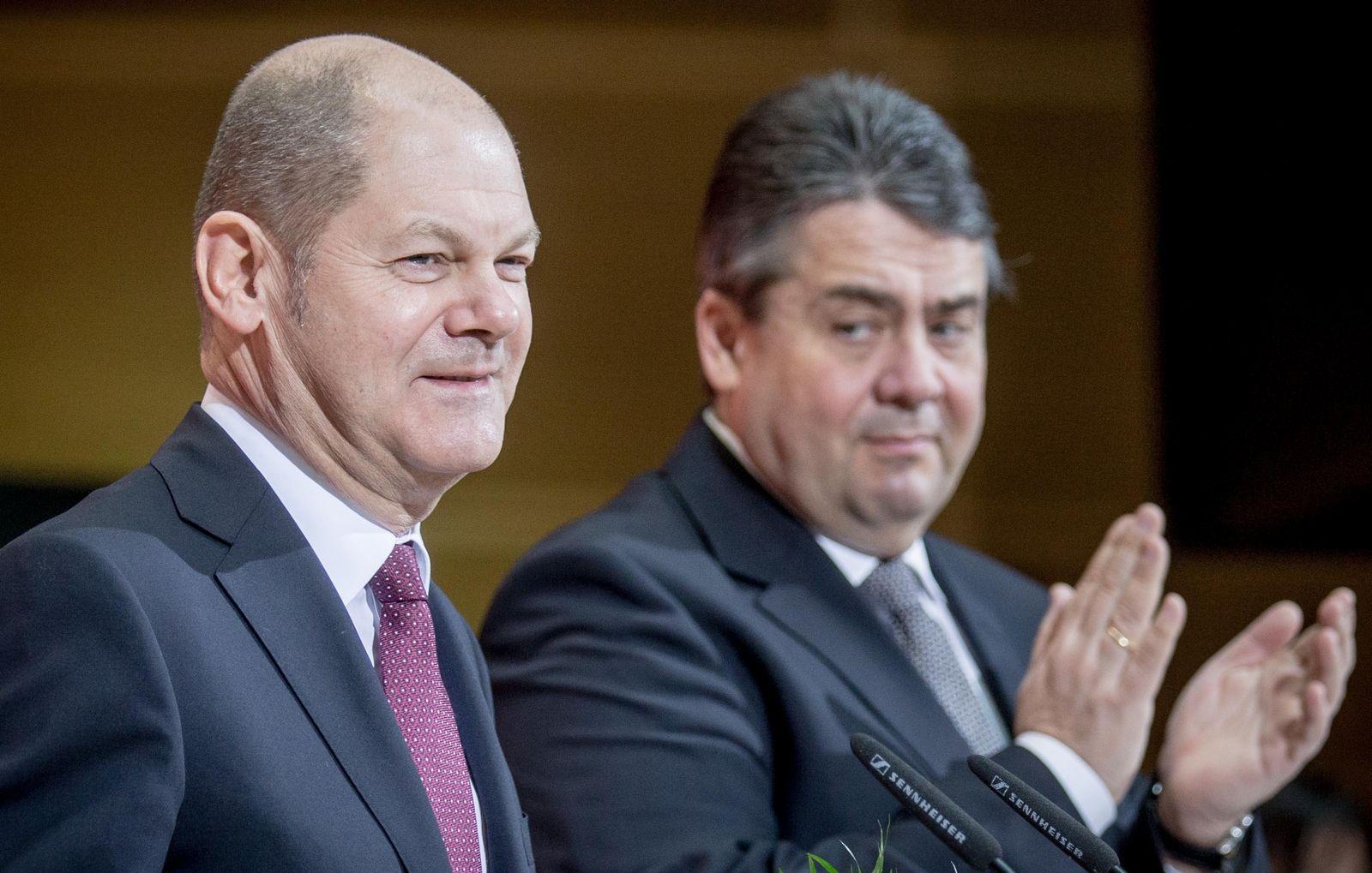 Olaf Scholz / Sigmar Gabriel/ SPD