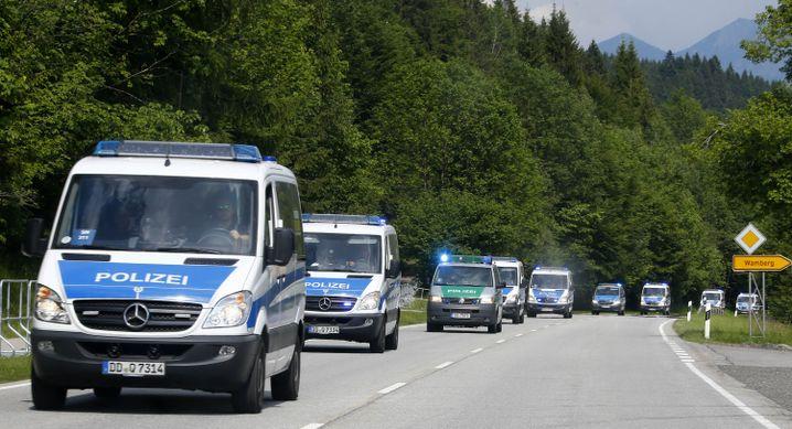 Polizeikräfte um Elmau: Noch Einsatzfahrzeuge im Rest der Republik?