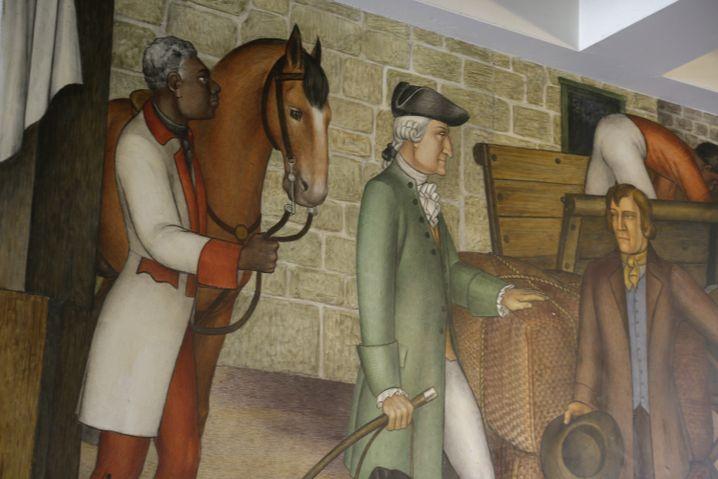 Fresko an der George Washington Highschool: Verdecken, aber nicht übermalen